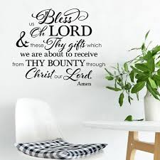 Kitchen And Dining Room Blessing Vinyl Wall Decal 5 Bless Us Oh Lord And These Thy Gifts Table Grace Tgbless 0005