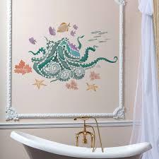 octopus garden wall art stencil trendy