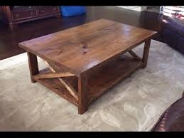 rustic coffee table with a bottom shelf