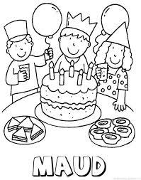 Naamkleurplatenmaken Nl Verjaardag Kleurplaten Verjaardagsideeen