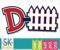 D Fence Defense Svg Dxf Eps Png Jpg Sweet Kate Designs