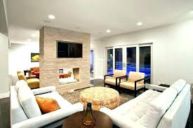double sided fireplace design indoor