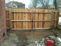 12 X 6 Wood Gate W Steel Frame Andrew Thomas Contractors Wood Fence Gates Wooden Fence Panels Wood Fence