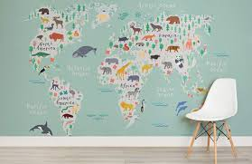 10 World Map Designs To Decorate A Plain Wall
