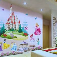 Faroot Large Colorful Wall Stickers Princess Castle Decal Vinyl Girls Children Bedroom Art Wall Stickers Aliexpress