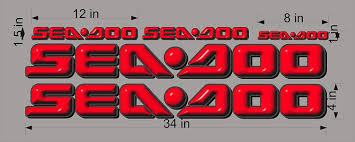 Amazon Com Sea Doo 3d Red Logo 4x34 Decal Set Graphic Sticker Package Replacement Automotive