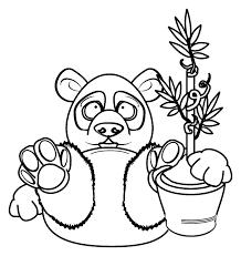 Tranh tô màu con gấu trúc ngộ nghĩnh « in hình này