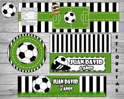 Kit Imprimible Personalizado Futbol Nuevo En Glint De