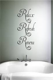 Relax Refresh Renew Vinyl Wall Words Decal Sticker Graphic Made From 10 Year High Quality Vinyl Which Leaves No Residue Up Vinyl Wall Words Word Wall Spa Decor