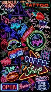neon wallpaper disered by