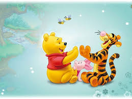winnie the pooh and tigger wallpaper on