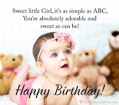 best birthday status wishes messages for baby girl