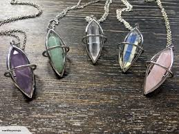 double terminated crystal pendants