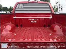 Custom American Flag Rear Window Decal Choose Your Size Importequipment