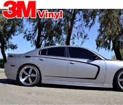 Side C Stripes Fits Dodge Challenger Hemi Rt Graphic Vinyl Decal 3m 2011 2014 Ebay