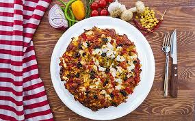 homemade feta cheese pizza