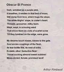 obscur et fronce poem by arthur rimbaud