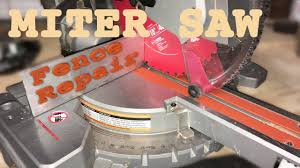 Quick Repair Of Miter Saw Fence Youtube