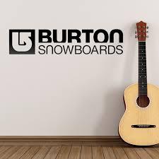 wall sticker burton snowboards bigger