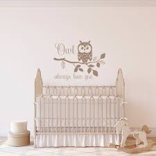 Owl Always Love You Nursery Wall Decal Owl On Branch Vinyl Wall Sticker Owl Nursery Decor Owl Baby Girl Gifts Children Wall Decal Lo2 In 2020 Kids Wall Decals Owl
