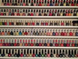 diy nail polish wall display rack