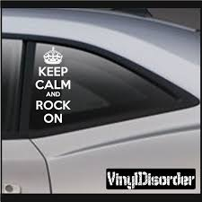 Keep Calm And Rock On Decal Baby Decals Car Decals Vinyl Car Decals
