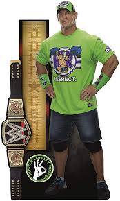 Amazon Com Fathead John Cena Growth Chart Life Size Officially Licensed Wwe Removable Wall Decal Multicolor Home Kitchen