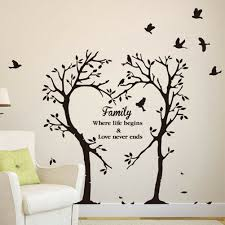 Family Love Tree Quotes Wall Sticker Art Living Room Removable Decals Practical For Sale Online