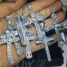cross pendant aaaaa cz 925 sterling
