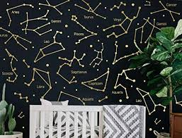 Amazon Com Zodiac Constellation Wall Decals Star Decals Zodiac Gift Vinyl Wall Decals Star Wall Stickers Wall Decor Gift For Her Ga168 Handmade