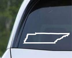 Tennessee State Outline Tn Usa America Die Cut Vinyl Decal Sticker Decals City