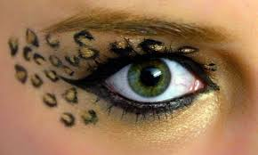 make cheetah print eye makeup cat eye