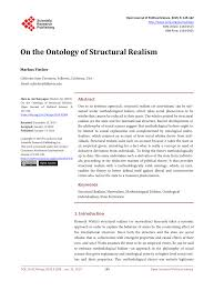pdf on the ontology of structural realism