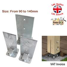 Heavy Duty Galvanised Bolt Down Internal Post Support Fence Foot Base 90 140 Mm Ebay