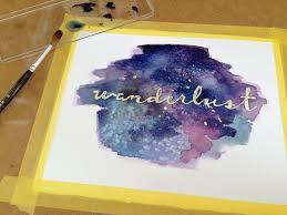 galaxy watercolor wall art masking