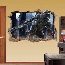 master chief wall sticker 3d halo