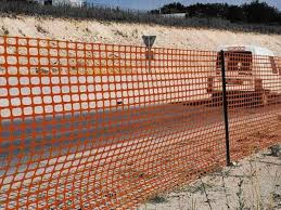 Orange Plastic Netting As Safety Fence In Traffic Control In 2020 Safety Fence Fence Snow Fence