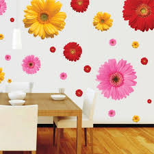 Daisy Wall Sticker Bedroom Wall Decal Flowers Decorative Combination Home Decor New Wall Stickers Bedroom Stickers Bedroomhome Decor Aliexpress