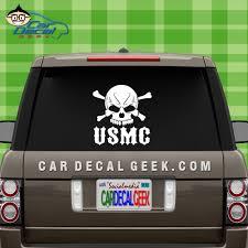Usmc Marines Skull Car Window Decal Sticker Military Decals