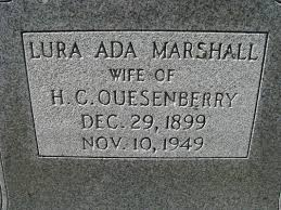 Lura Ada Marshall Quesenberry (1899-1949) - Find A Grave Memorial