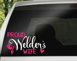 Welders Wife Decal Etsy