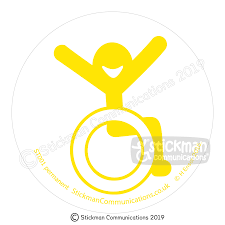 Happy Accessibility Disabled Symbol Clear Vinyl Sticker Disabled Sign