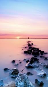 pink ocean wallpaper iphone