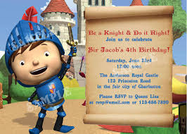 Mike The Knight Birthday Diy Printable Party Invitation 4x6 Or