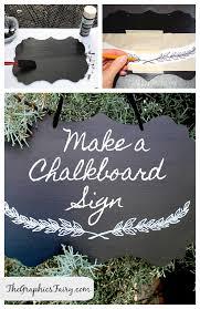 diy tutorial painted chalkboard sign