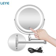 wall mounted bathroom mirror with led