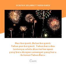 kata kata ucapan selamat tahun baru dengan gambar canva