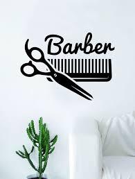 Barbershop Logo V3 Wall Decal Home Decor Art Sticker Vinyl Bedroom Roo Boop Decals