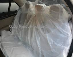 disposable plastic car seat cover for