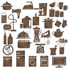 Various Household Appliances And Kitchen Utensils Sticker Wall Decals Aleksandra Novakovic